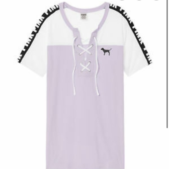 PINK Victoria's Secret Tops - VS PINK Lace Up Campus Tee